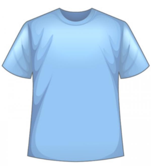 Svetlo-modré tričko s potlačou