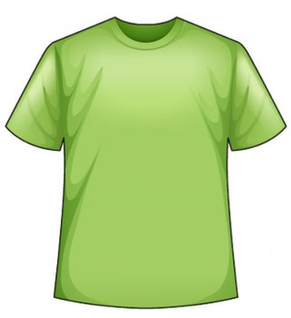 Svetlo-zelené tričko s potlačou