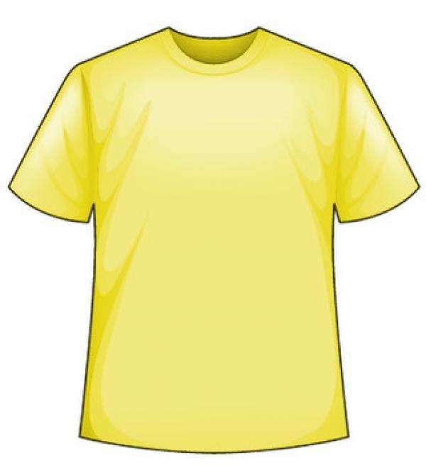 Žlté tričko s potlačou