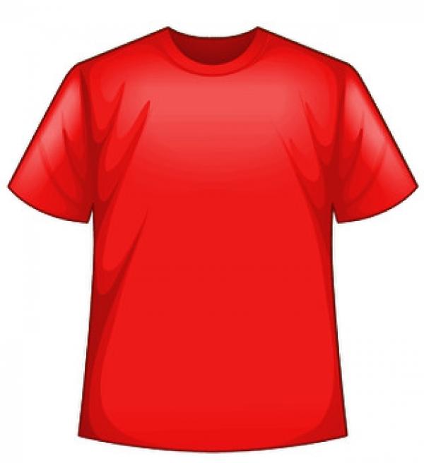 Červené tričko s potlačou